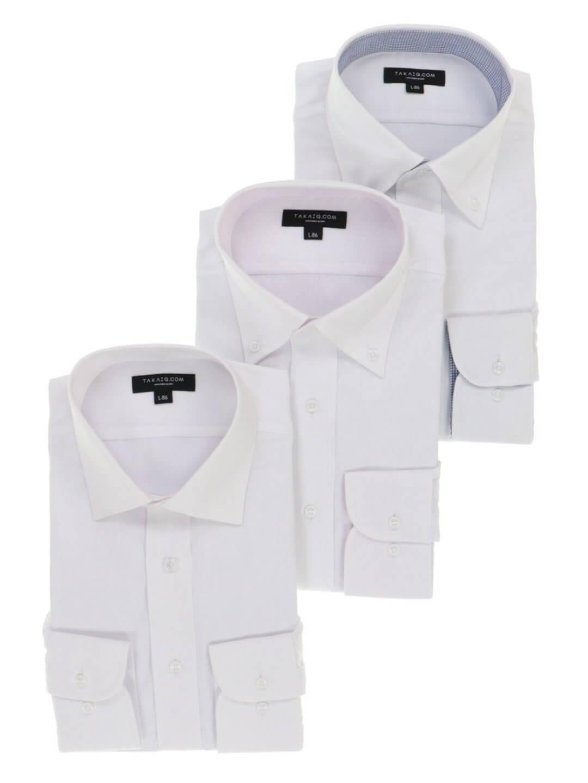 レギュラーフィット長袖シャツ3枚セット
